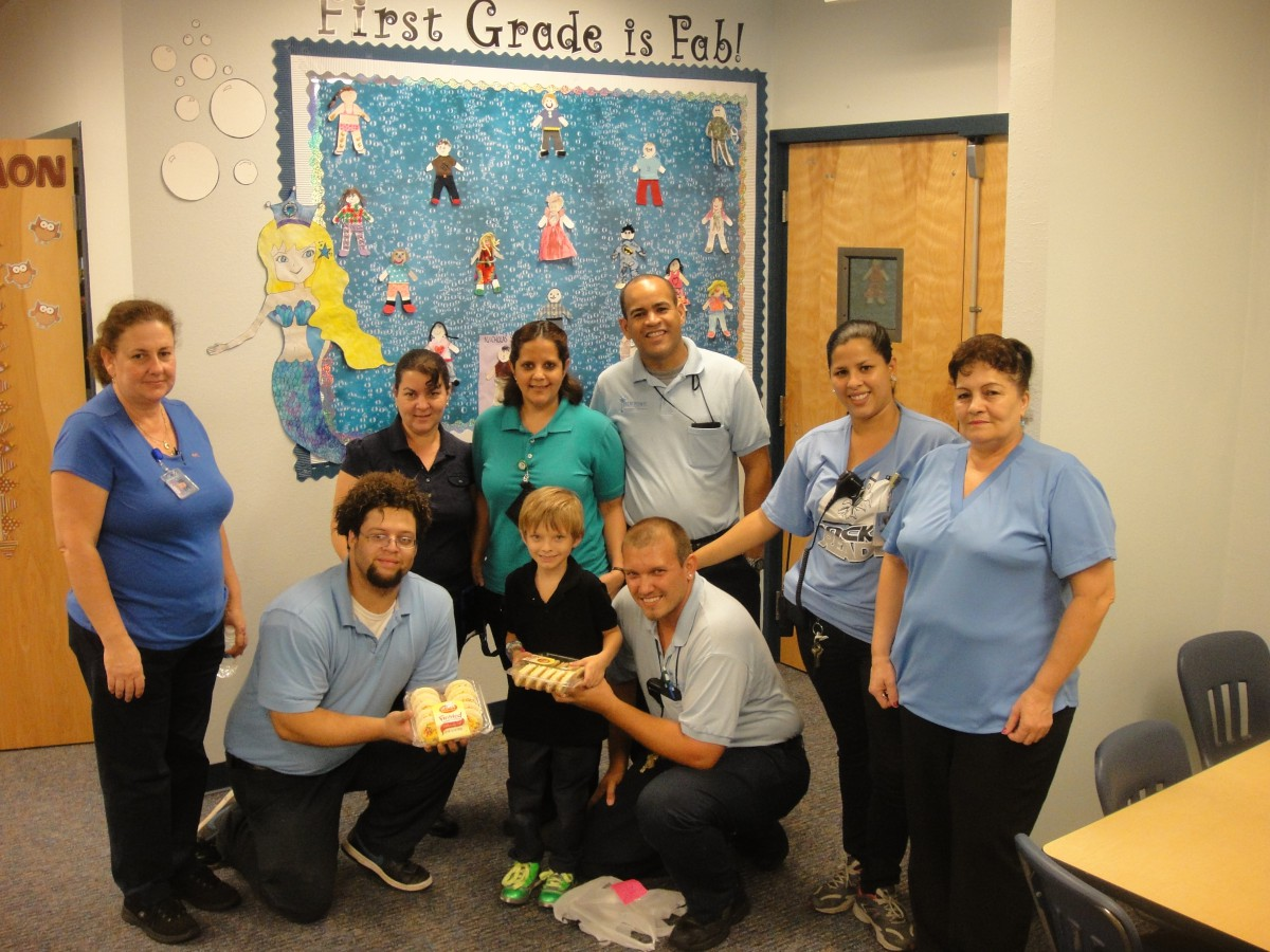 Palm Pointe Recognizes Custodian Workers Day