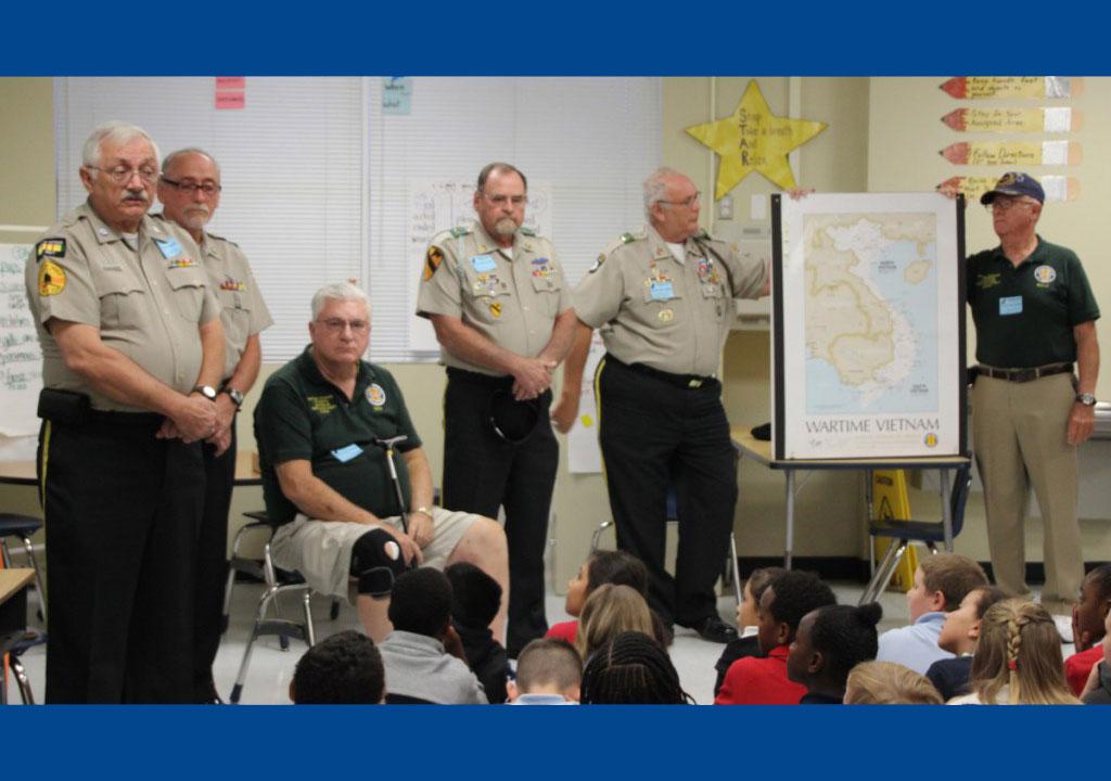Veterans Visit Lakewood Park Third Graders