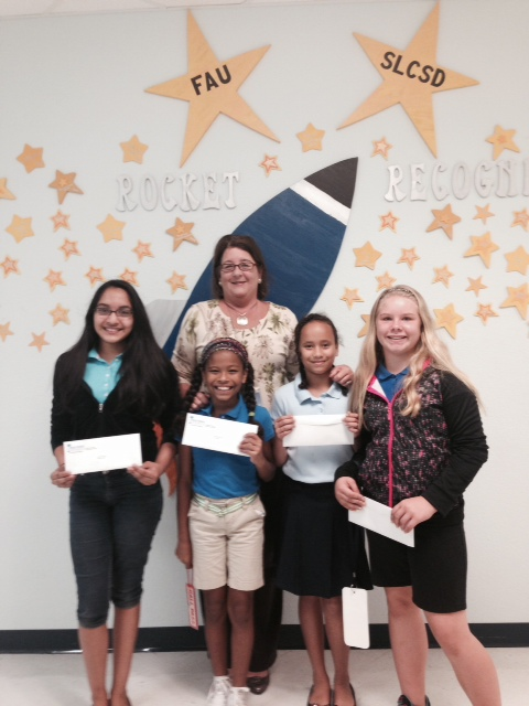 Winners of Dr. Gaines Essay Contest at Palm Pointe