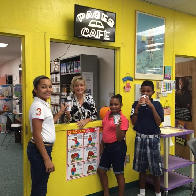 "Manatee Academy Re-opens ""Pages Cafe"""