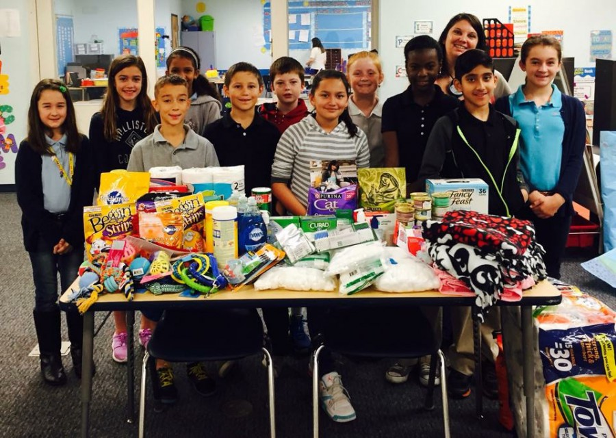 Donations Made by Palm Pointe's National Junior Beta Club