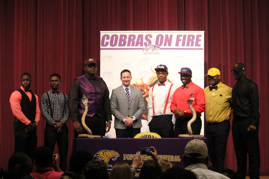 Cobra Student Athletes Make Commitments on Signing Day