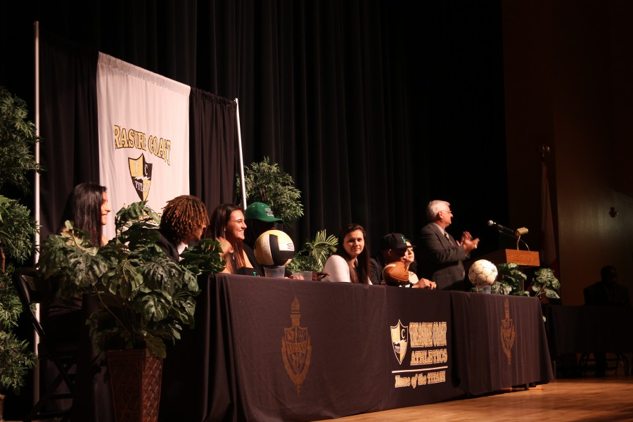 TCHS Senior Athletes Commit to Their College Education
