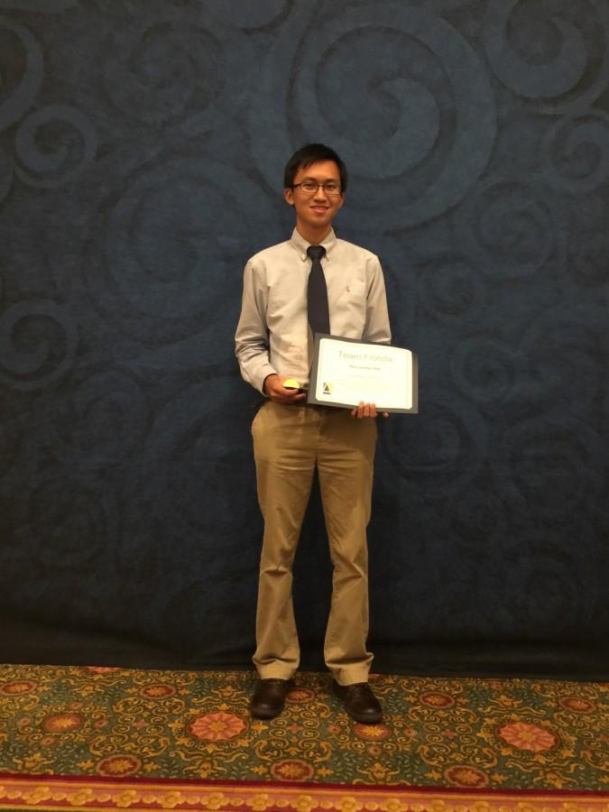 LPA Student Geffrey Zeheng Named to Team Florida