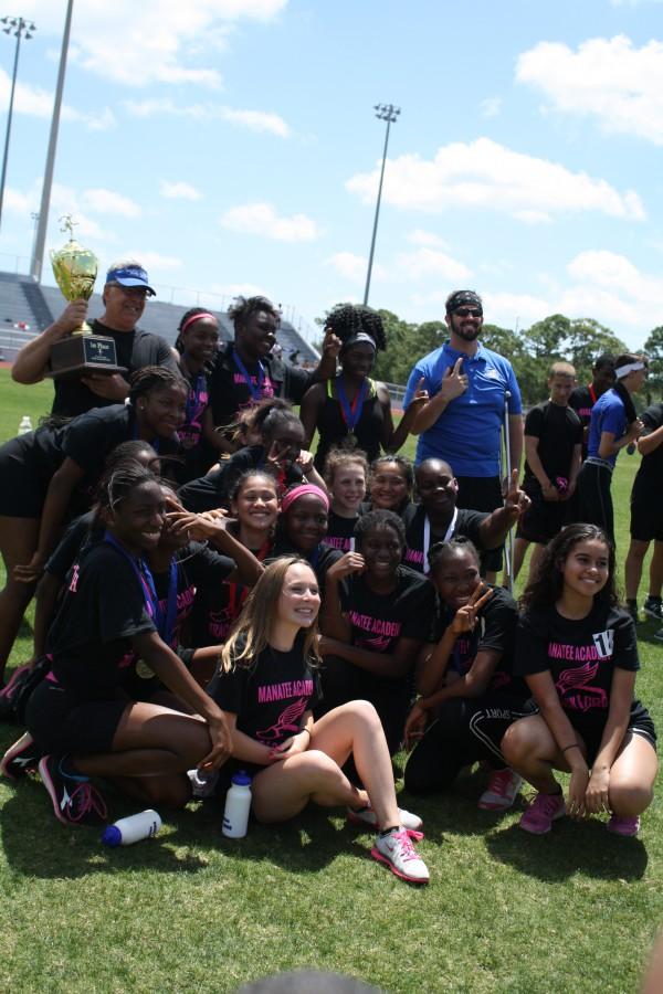 Manatee Academy Girls Track Wins Third Consecutive Title
