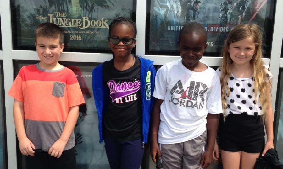 Third Graders at F K Sweet Enjoy Movie Rewards