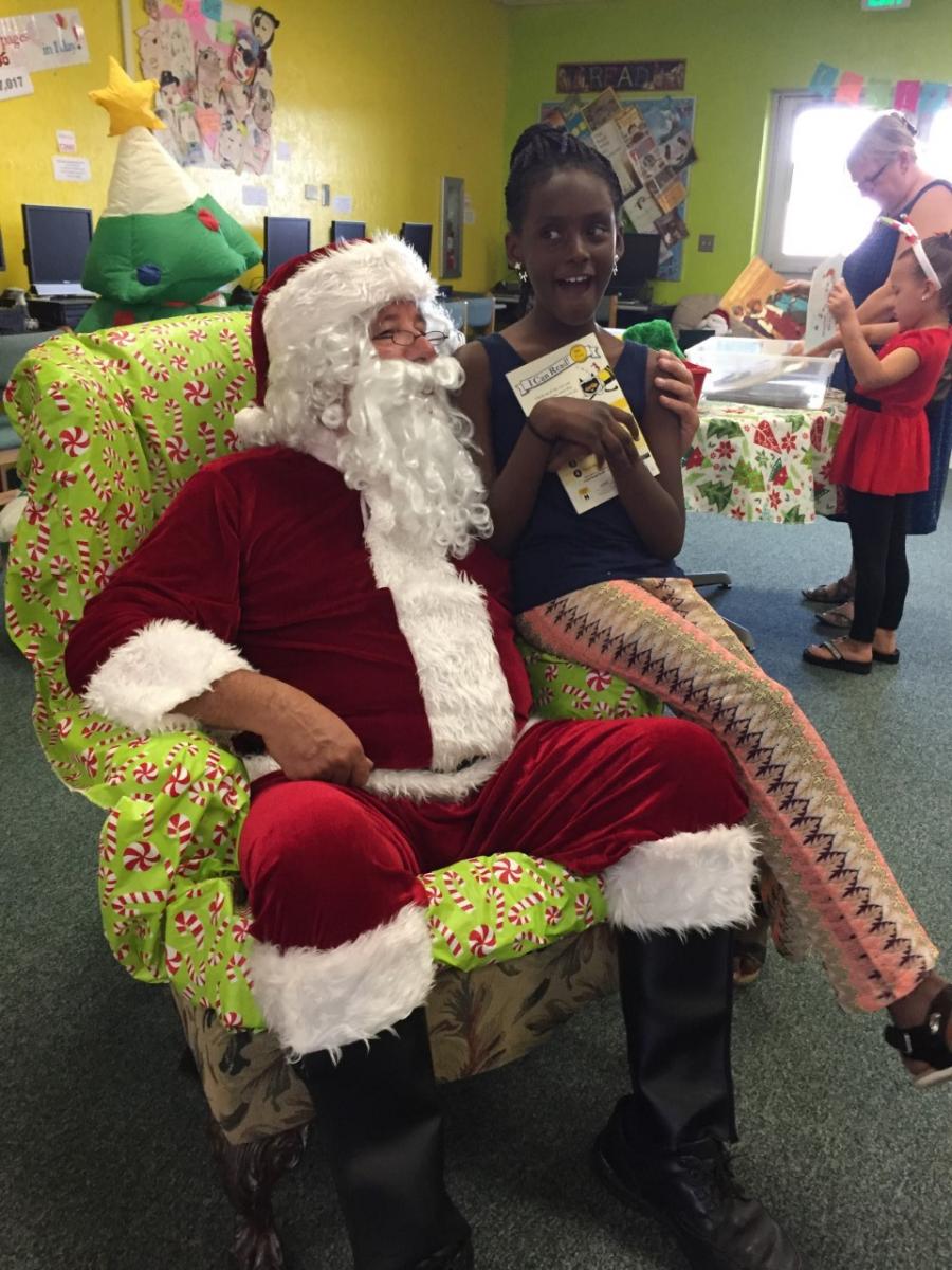 Manatee Academy Students Enjoy Sunday Brunch with Santa