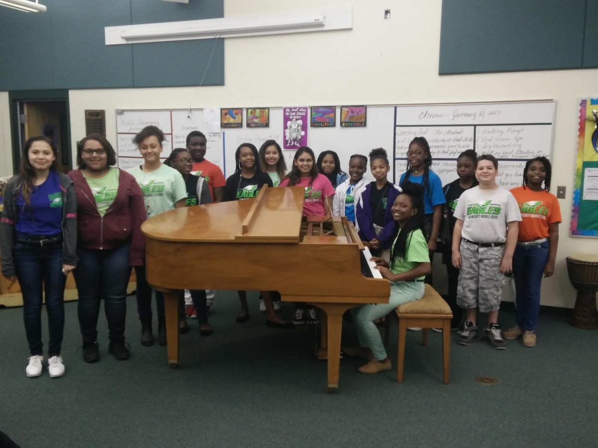 Dan McCarty Chorus Receives Gift of a Baby Grand Piano