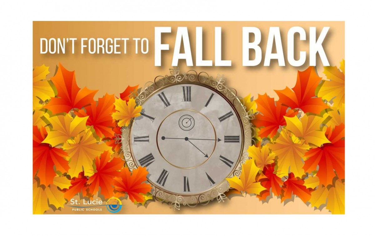 Daylight Savings Time Ends Nov. 5th