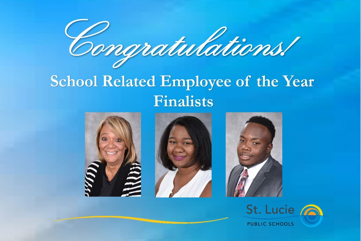 St. Lucie Public Schools Announces Finalists for School Related Employee of the Year