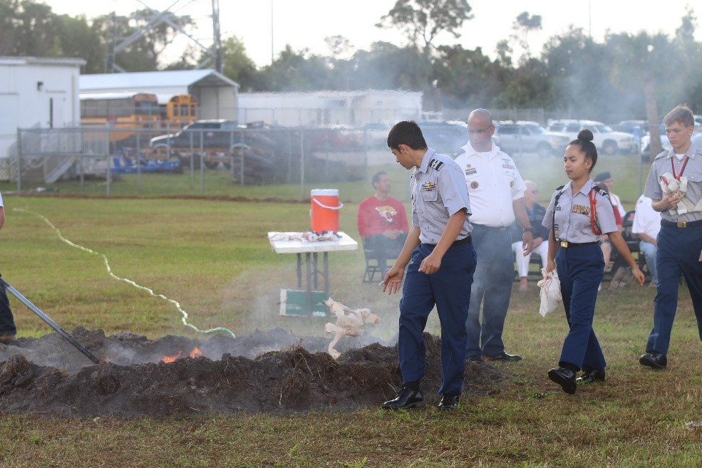 Flag Burning Retirement Ceremony