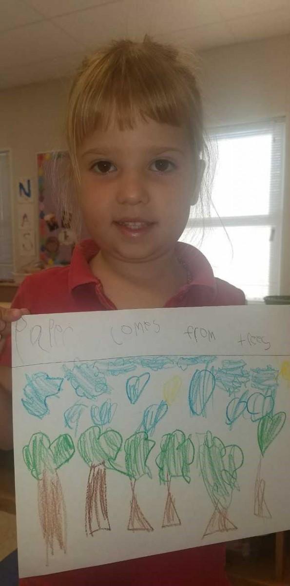 Mariposa Elementary's PreKindergarten Explores the Importance of Paper