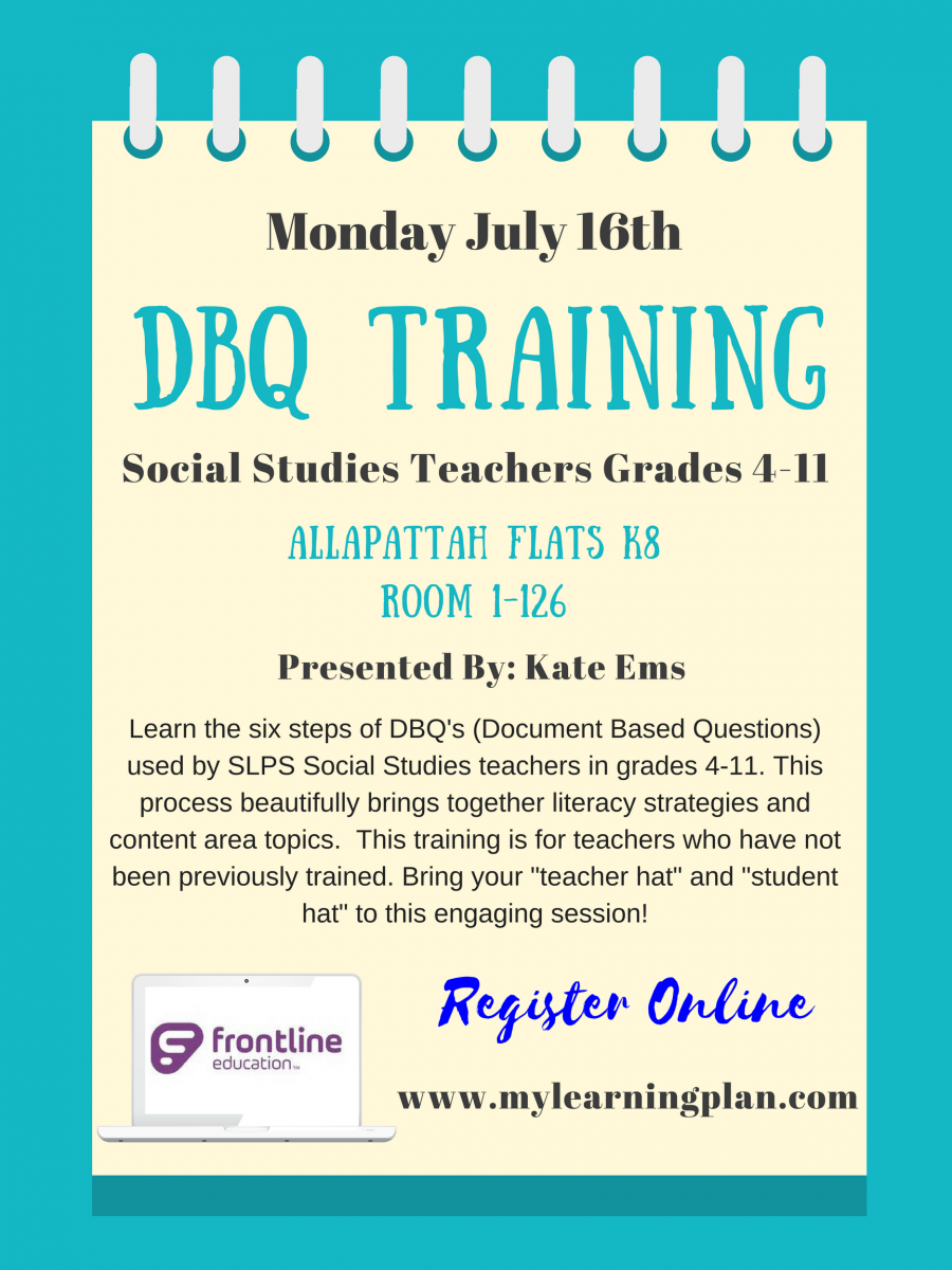 Summer Professional Development – DBQ