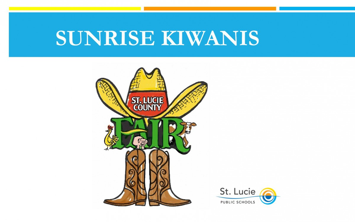 Sunrise Kiwanis of Ft. Pierce Present St. Lucie County Fair Awards