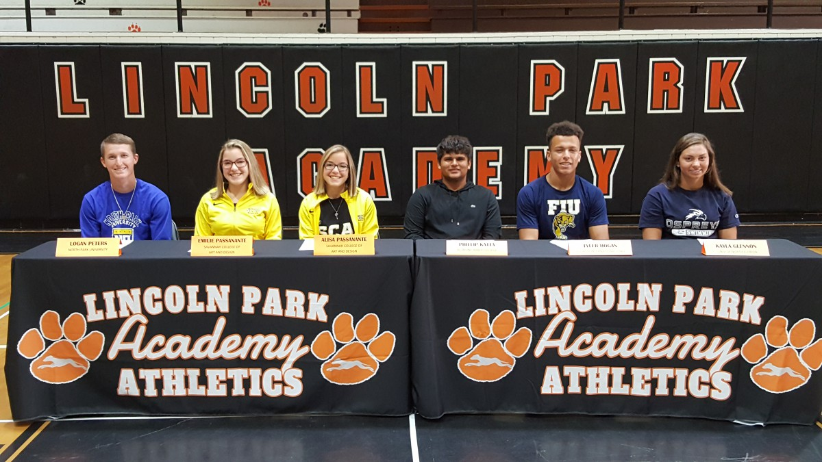 Senior Signing at Lincoln Park Academy