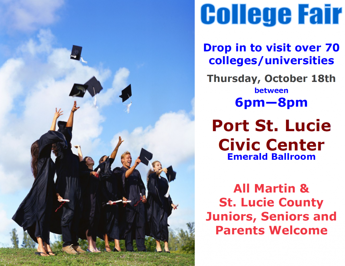 Calling All Juniors and Seniors – College Fair October 18th