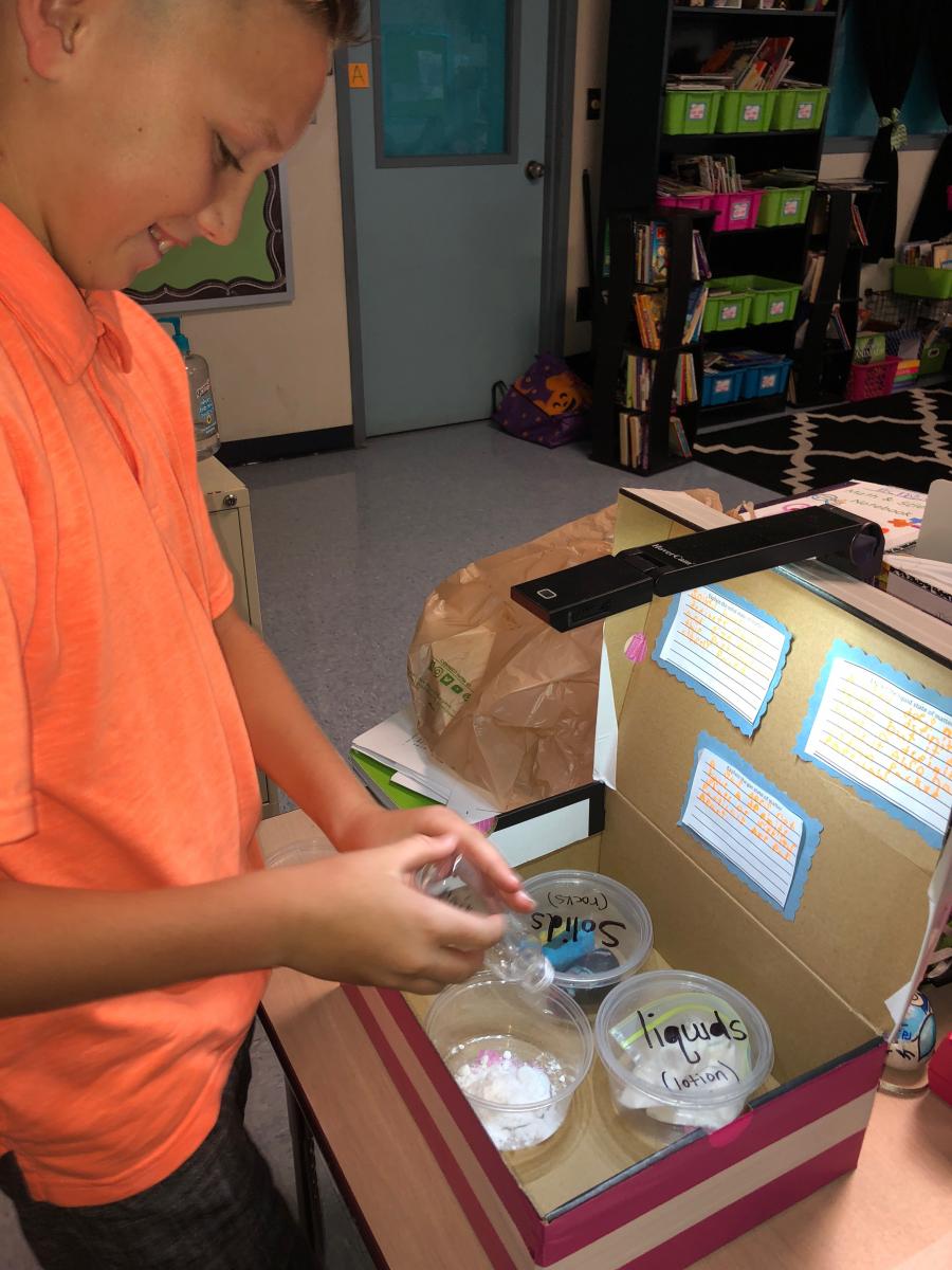 Matter Matters at Mariposa Elementary School!