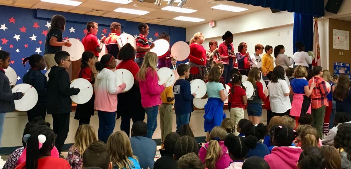 Mariposa Elementary Celebrates our Military