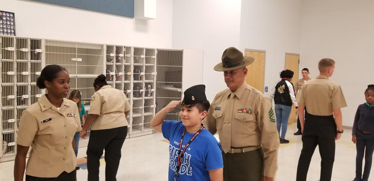 SLW Centennial Navy JROTC Mentoring Students
