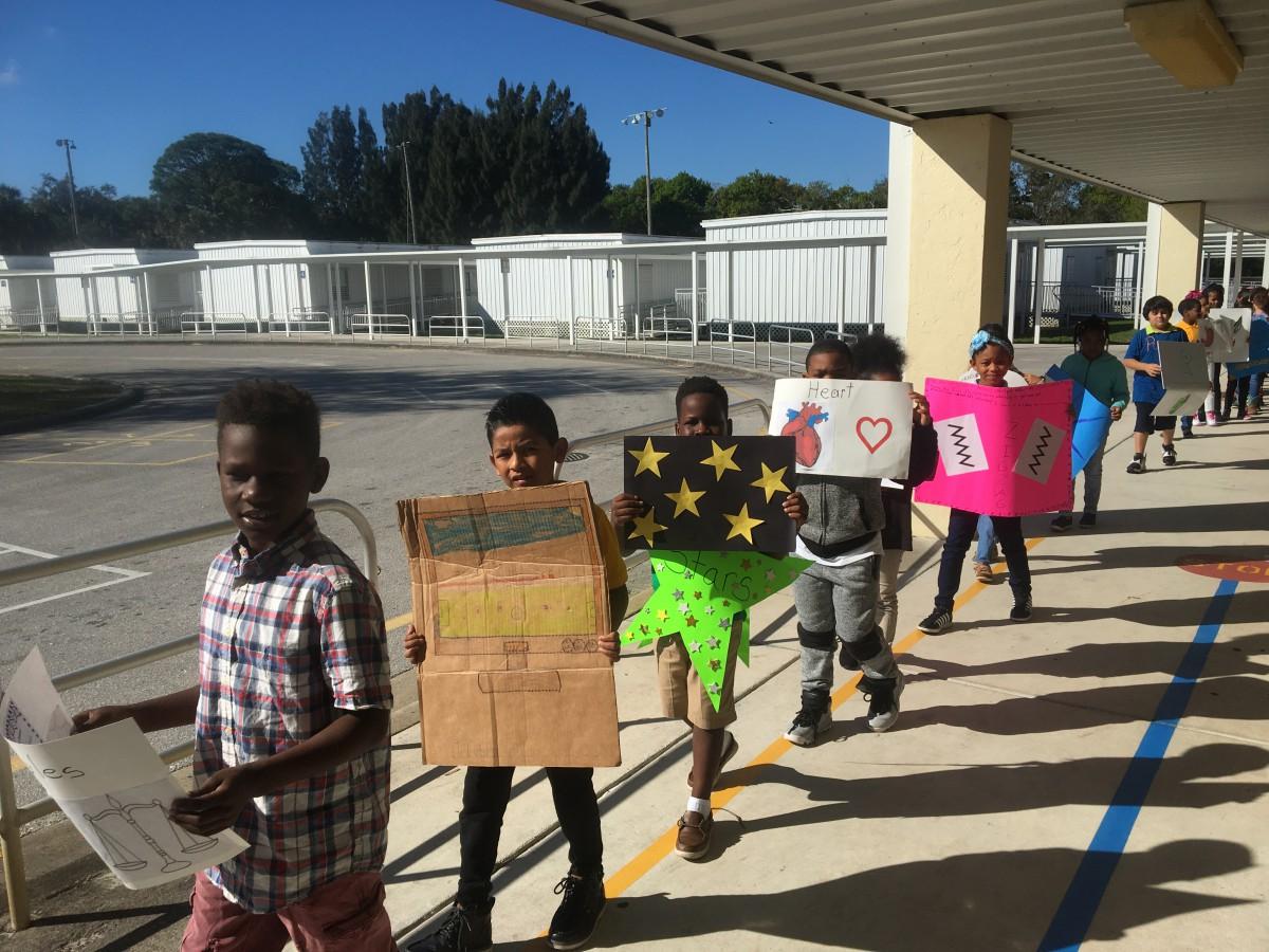 Vocabulary Parade at White City Elementary