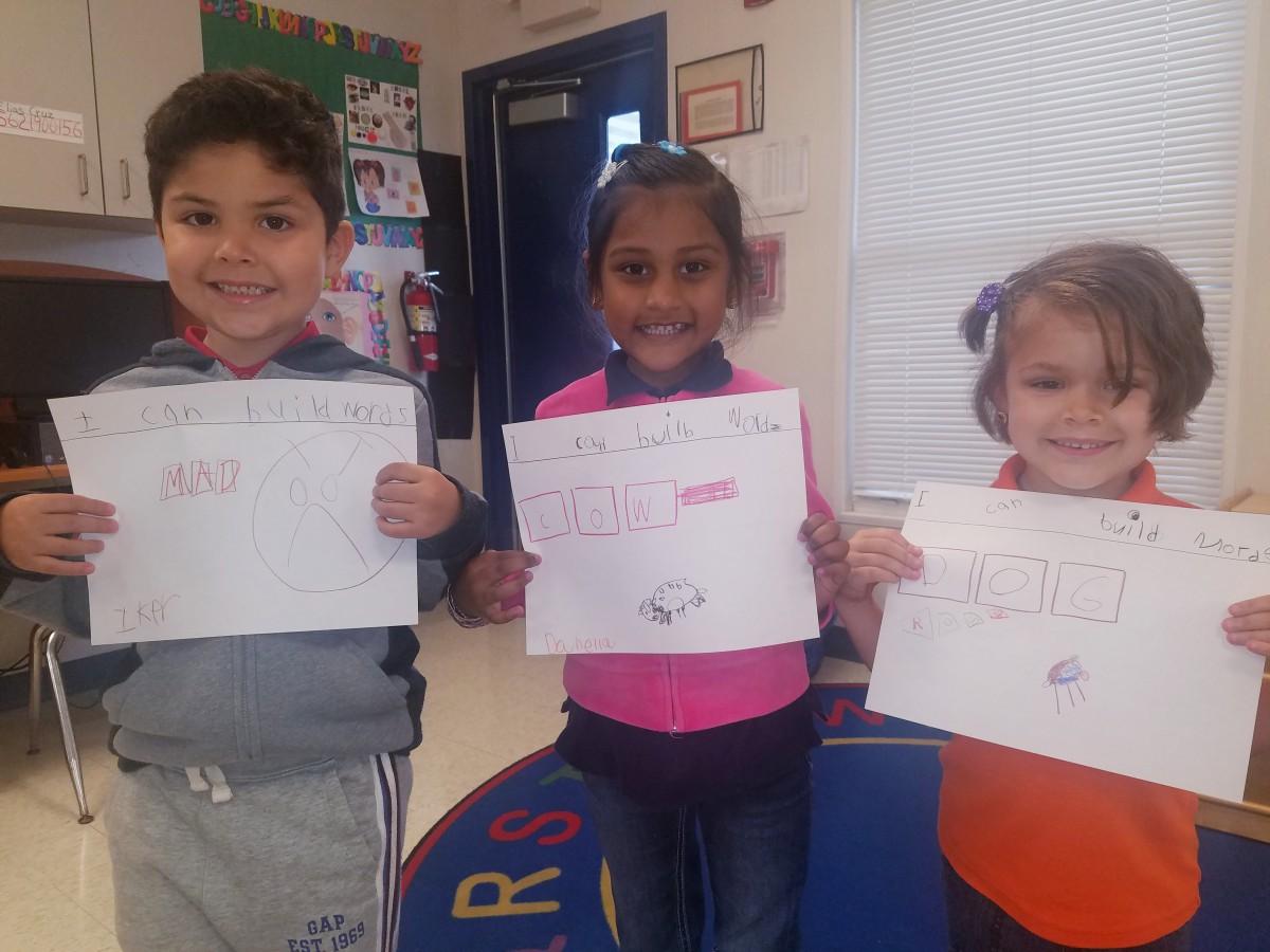 Mariposa Elementary's PreK Explores CVC Words
