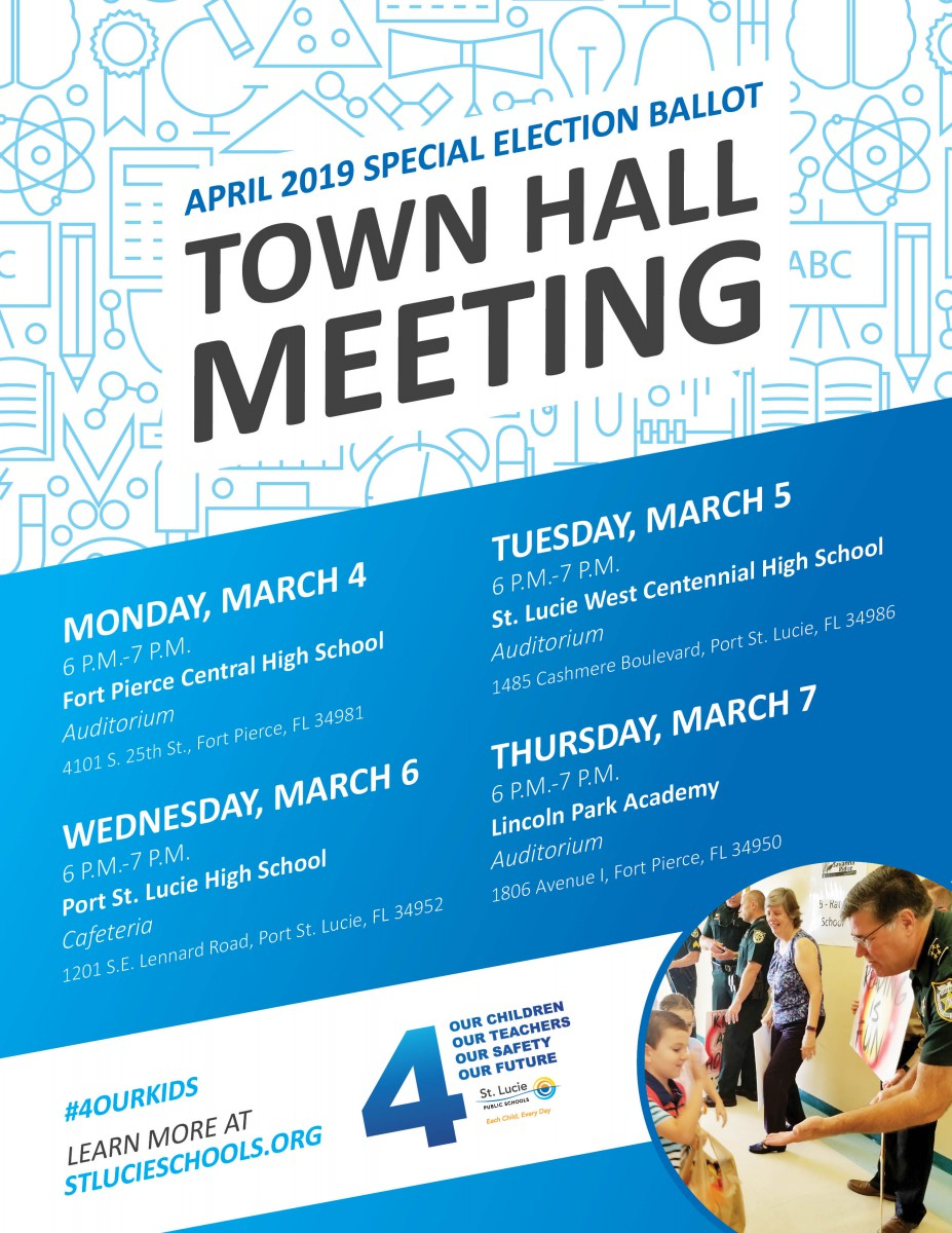 Town Hall Meetings Scheduled