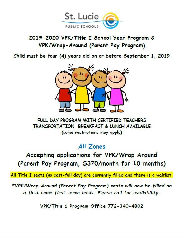 2019-2020 VPK Registration
