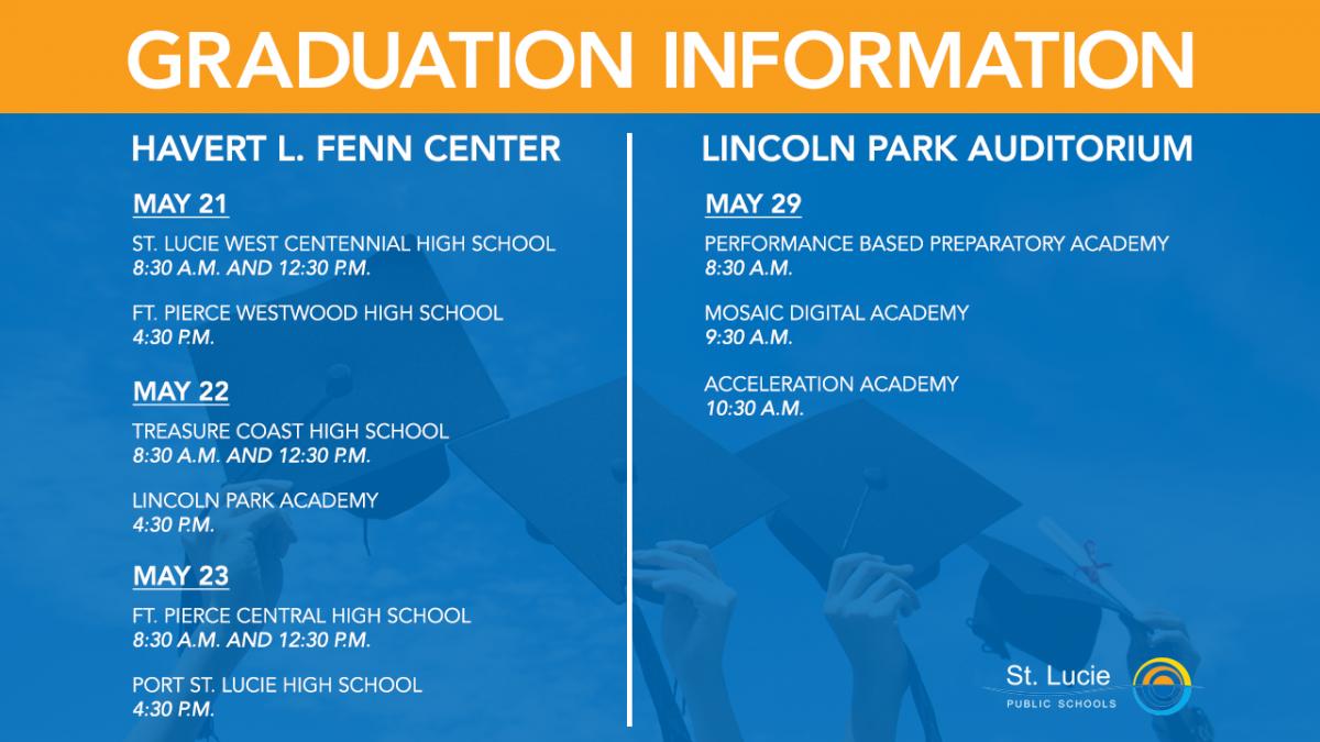 SLPS 2019 Graduation Dates