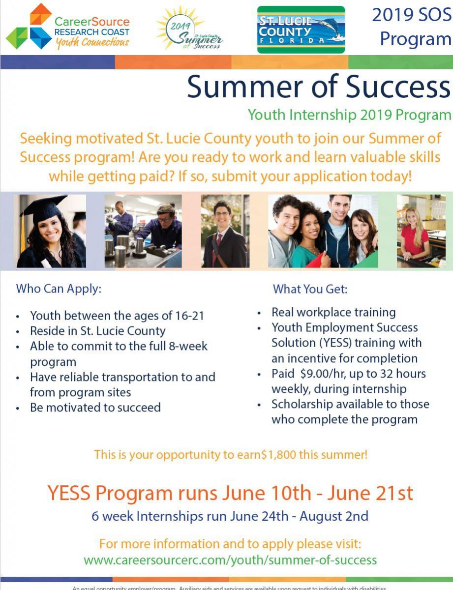 Summer of Success Youth Internships