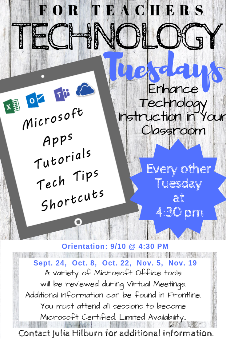 Tech Tuesdays for Teachers