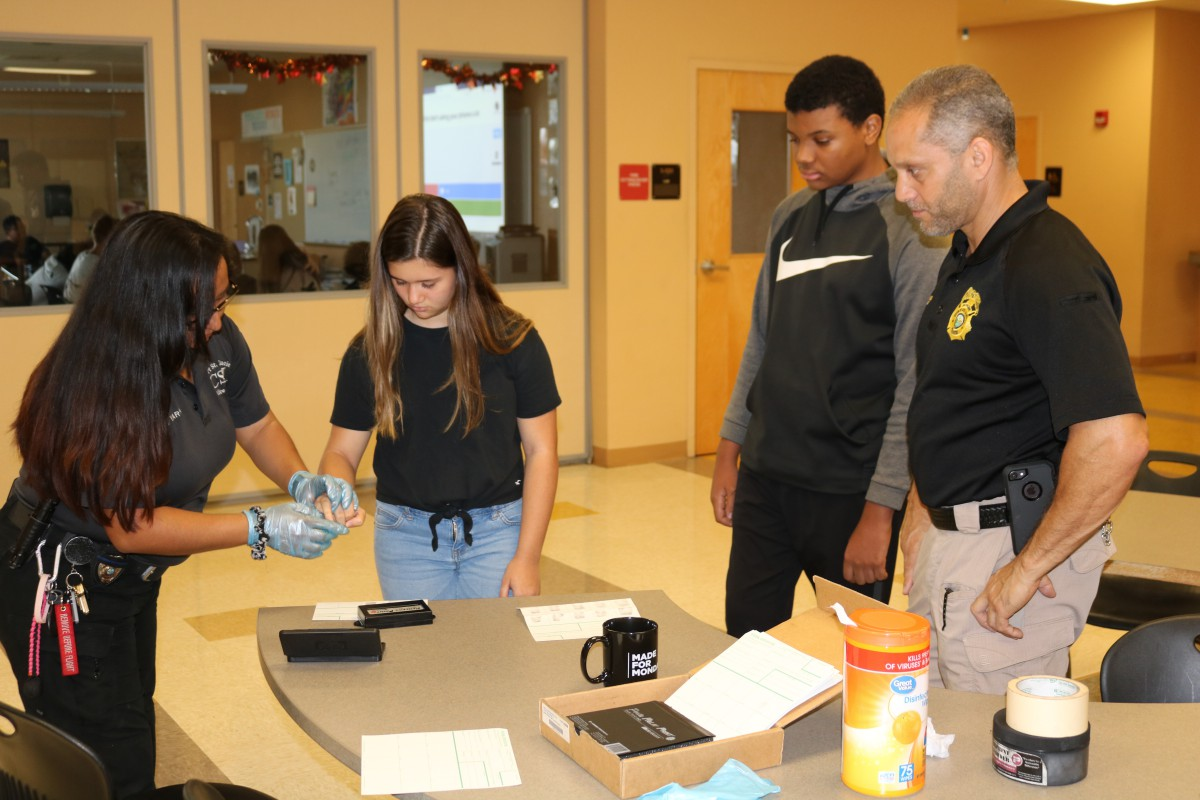 C.S.I. visits Treasure Coast High's Criminal Justice Classes