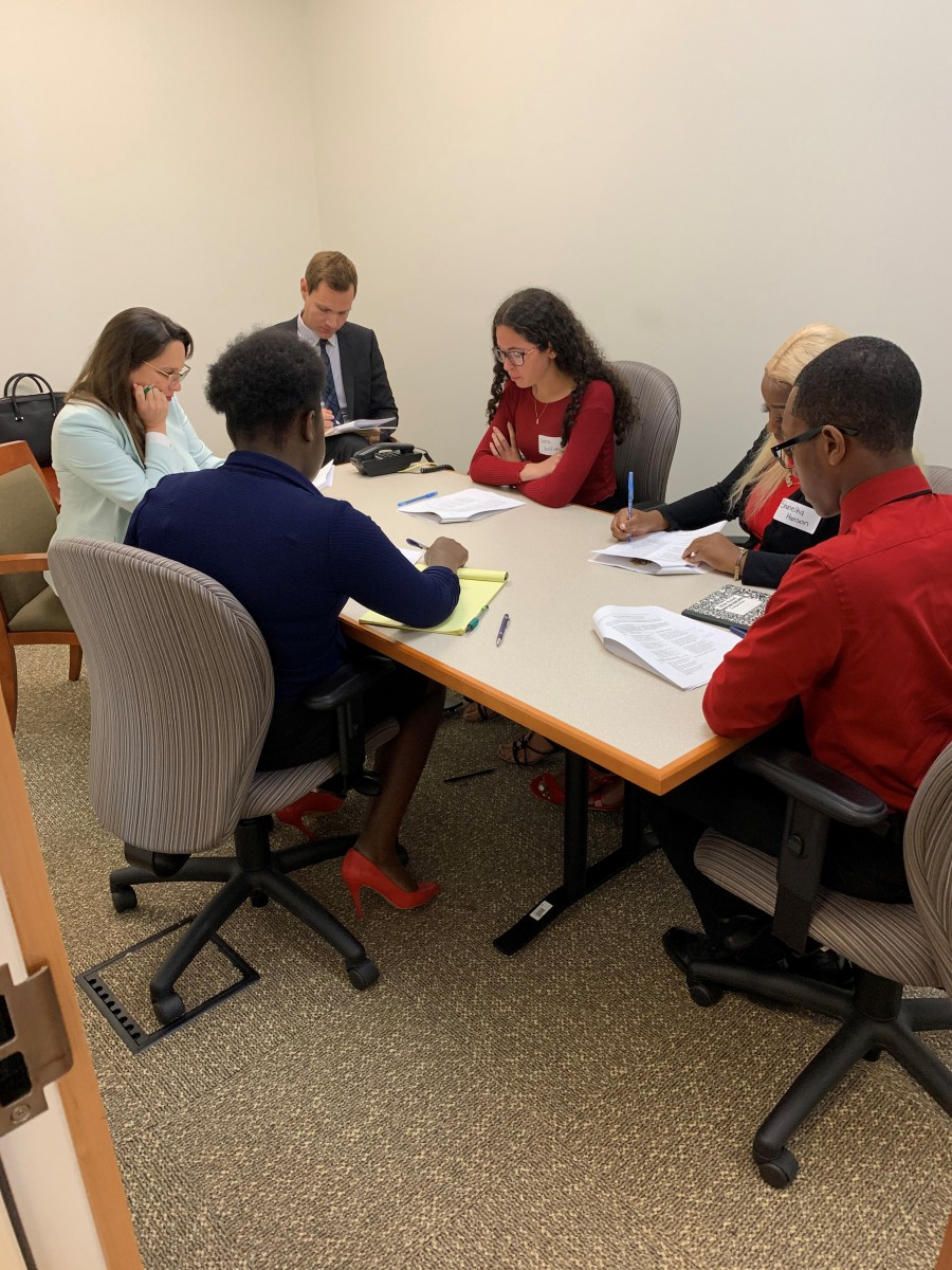 Students Participate in Judge Maynard's Teen Discourse Session at Federal Courthouse