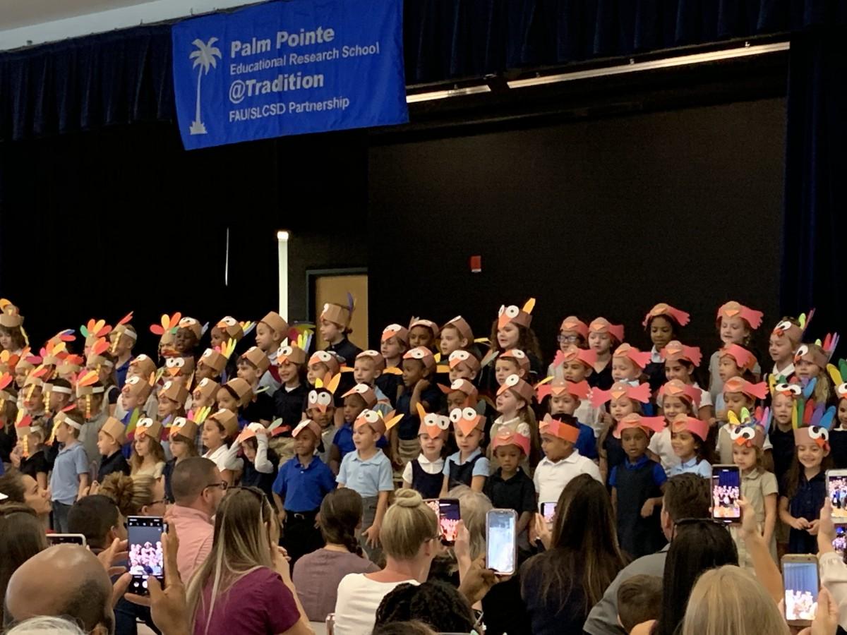 Palm Pointe Kindergarten Celebrates Harvest Festival and Friendship Feast