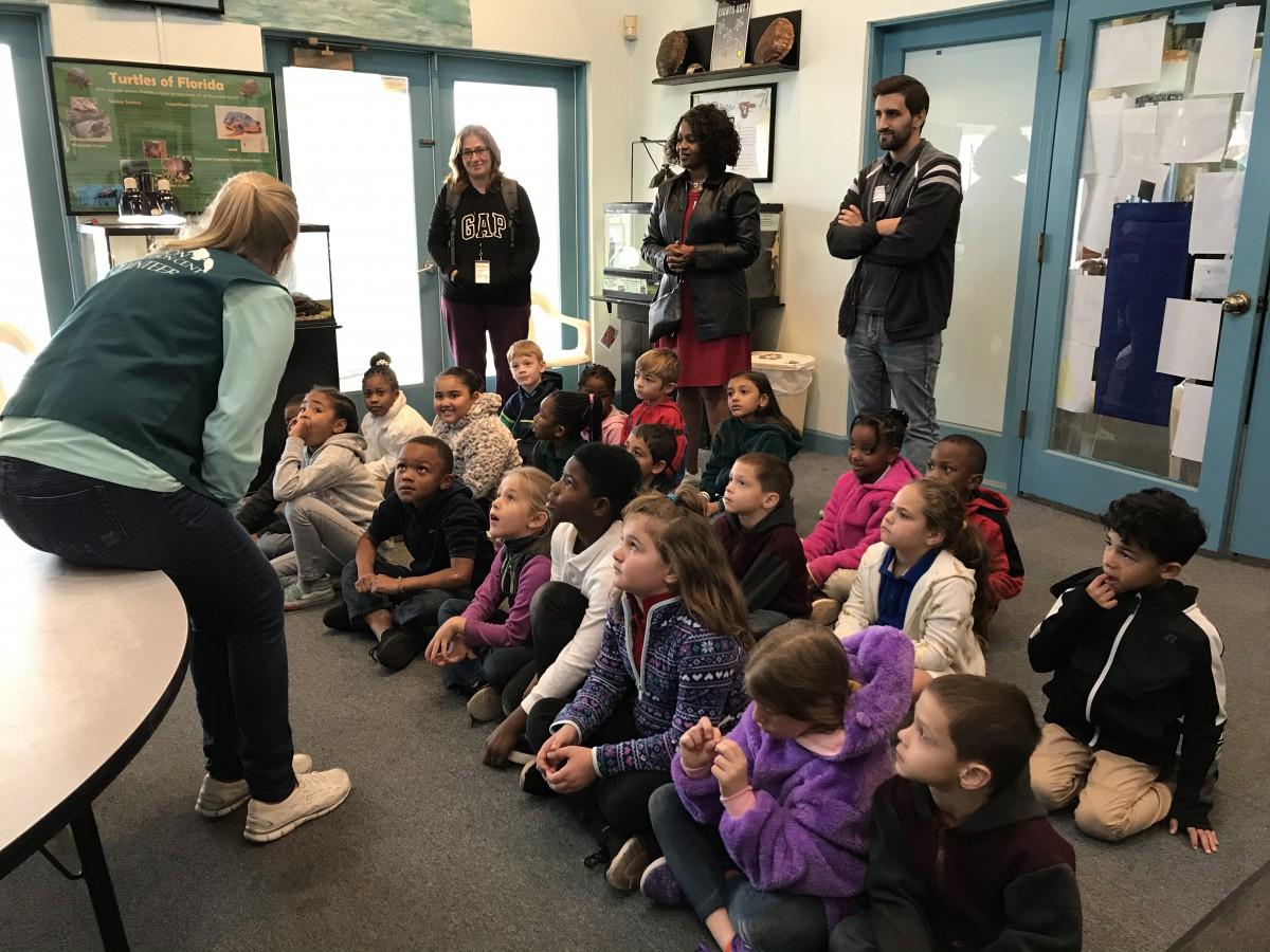 Bayshore First Graders Visit Manatee Center!