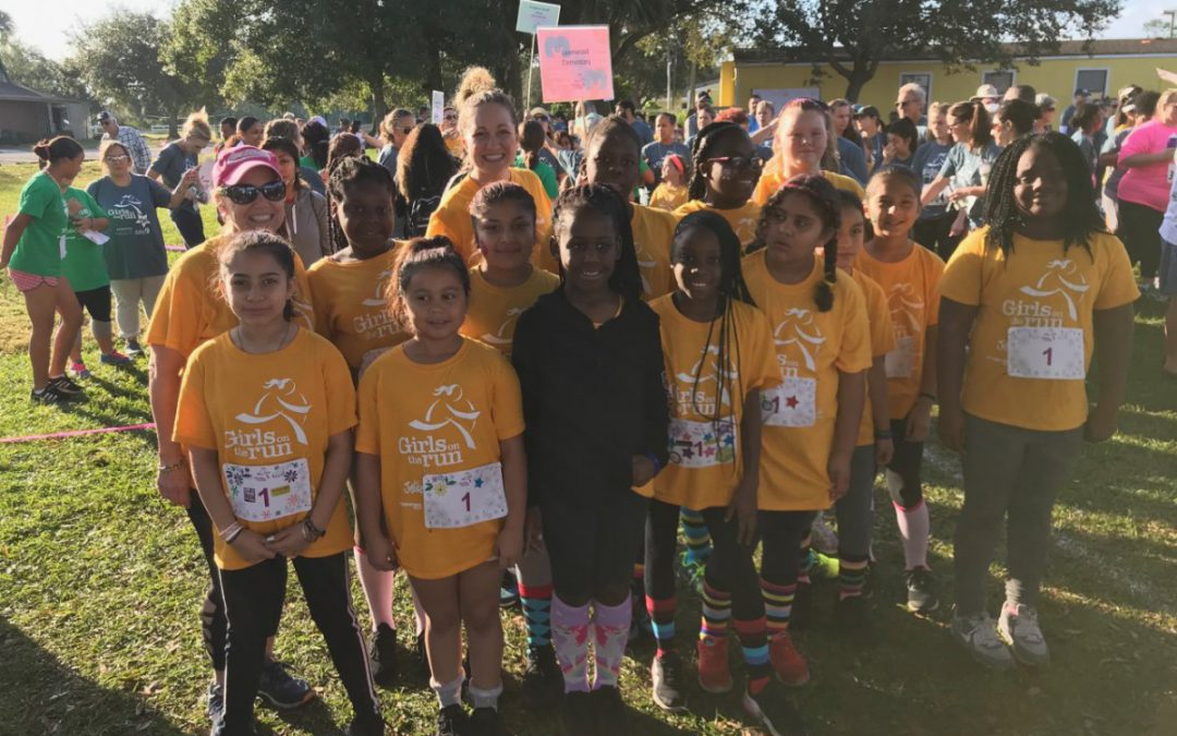 Lawnwood's Girls on the Run Team Participates in Local Event