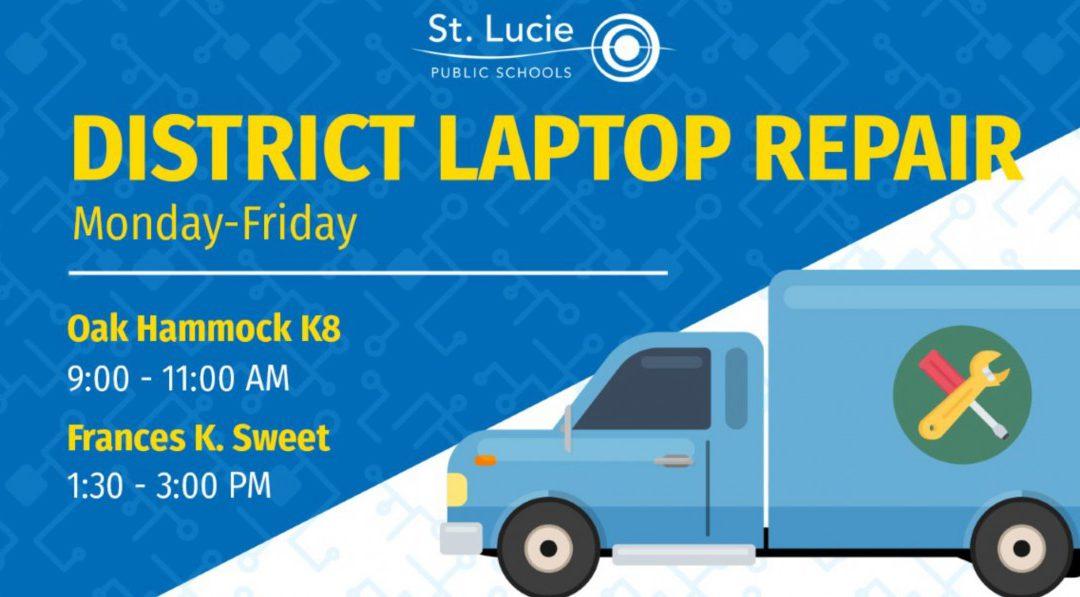 District Laptop Repair Locations: April 27-May 1