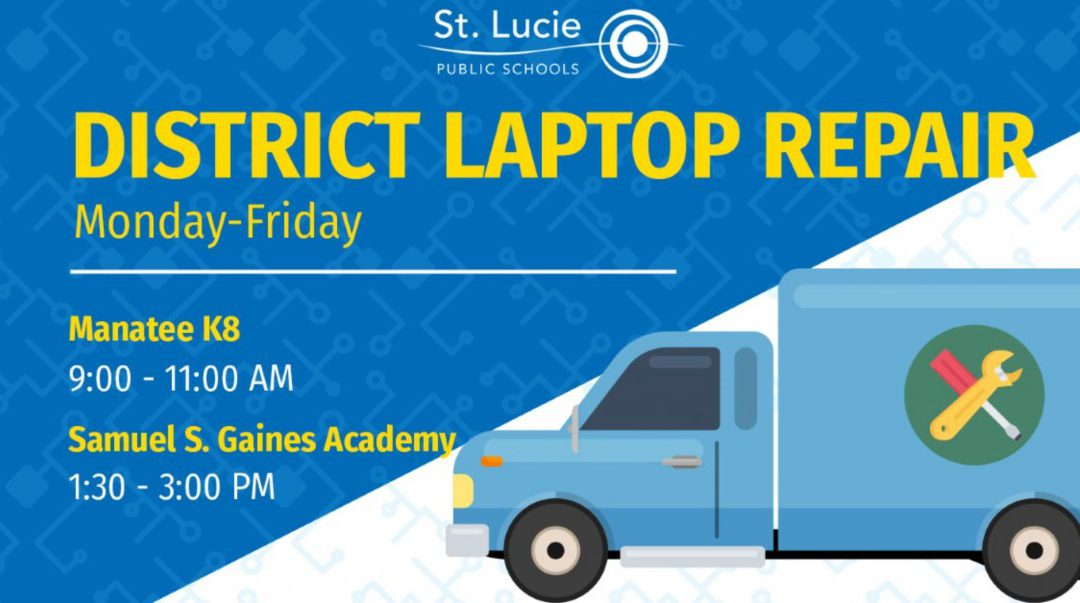 District Laptop Repair Locations: May 11 – May 15
