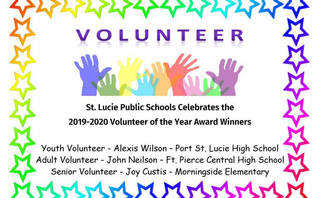 St. Lucie Public Schools Celebrates 2019-2020 Volunteer of the Year Winners
